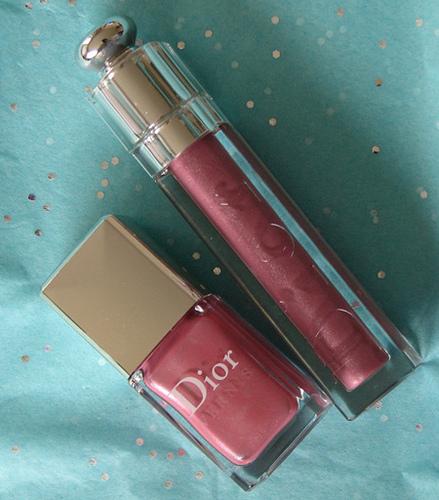 Dior Vernis 386 Cherry Flower, Addict Ultra Gloss Flash 692 Tailored Mauve