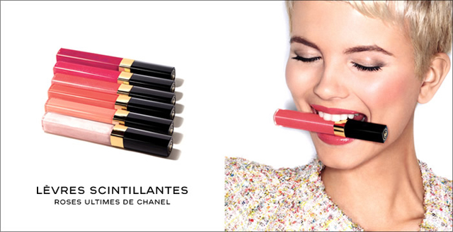 Chanel Levres Scintillantes Glossimer in Desir, Plasir and Jalousie. Roses Ultime de Chanel