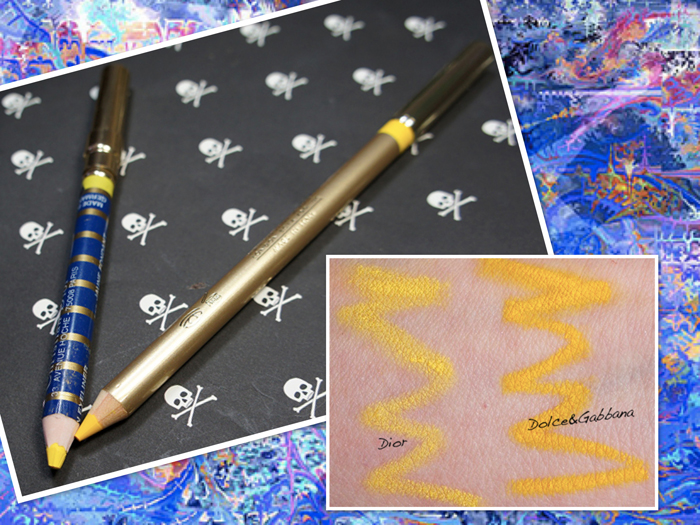 Желтый карандаш для глаз