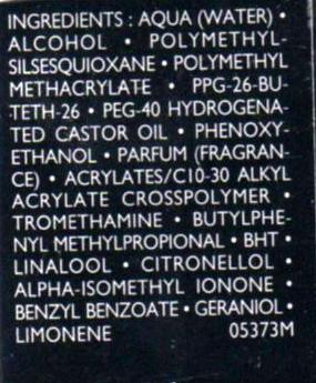Guerlain Shine Control Ingredients