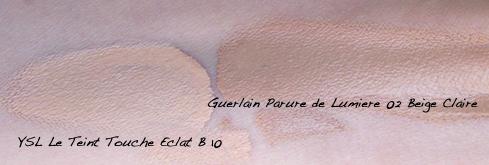 Guerlain Parure de Lumiere vs YSL Teint Touche Eclat