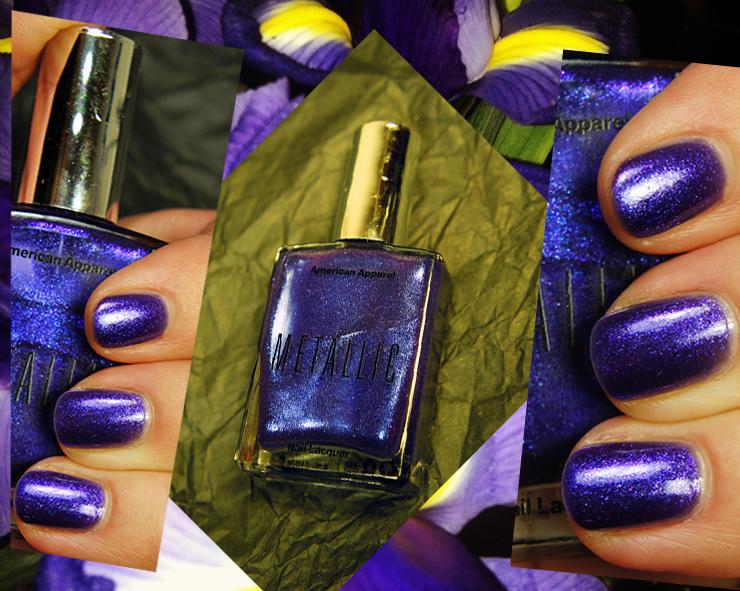 American Apparel Matallic Violet Panache Nail Polish