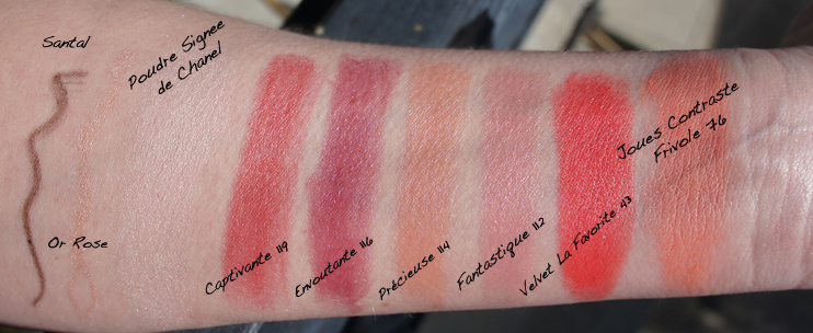 Chanel Spring 2013 Makeup Collection Swatches