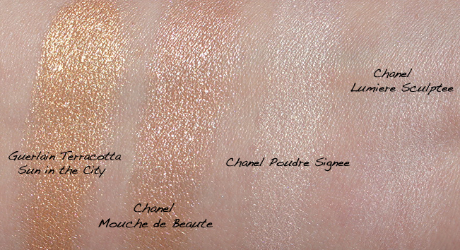 Chanel Mouche de Beauté Illuminating Powder Swatches
